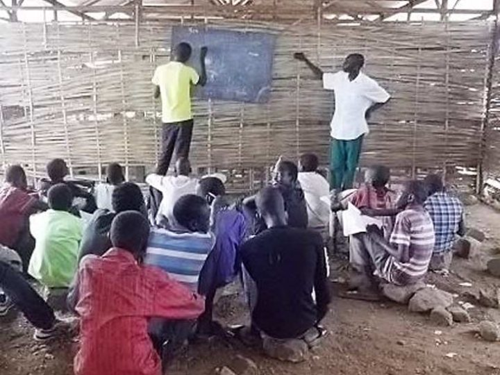 South Sudan Teacher Training Graduates Start Voluntary School in UN Camp