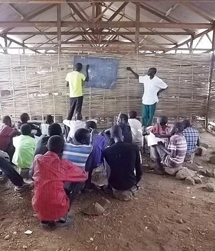 South Sudan school classroom