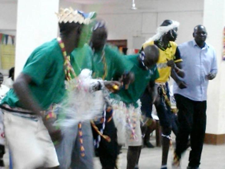 South Sudan students dancing