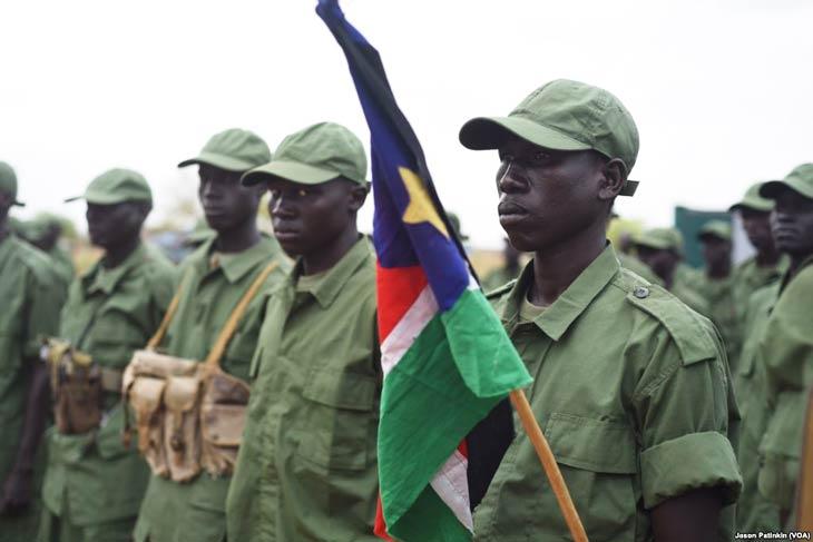 South Sudan SPLA-IO soldiers