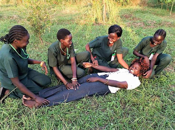 South Sudanese health care trainees